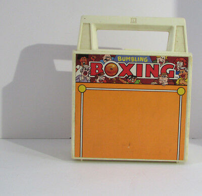 BUMBLING BOXING Vintage TOMY Portable Boxing Ring with 2 Wind Up Boxers & Case
