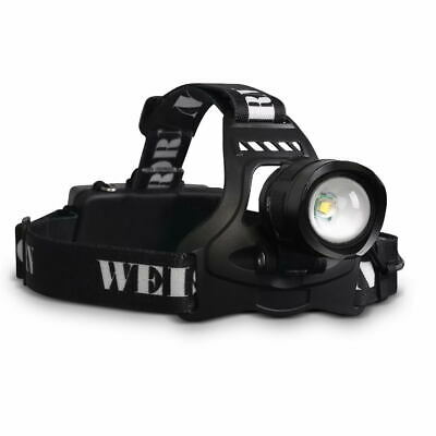 Weisshorn 2 x LED Headlamp Flash Light 13000LM Rechargeable Torch 5 Modes