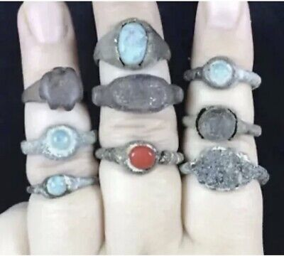Sale One Lot Ground diging Ancient Different stone Unique Ring
