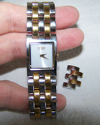 Citizen Eco $325.00 Retail Women's Jolie Series Square Two Tone Watch EX1304-51A