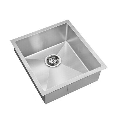 Cefito 440x450mm Stainless Steel Kitchen Laundry Sink Single Bowl Nano Silver