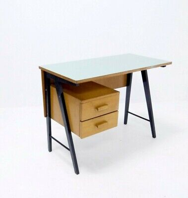 Vintage Mid Century Industrial Metal Writing Desk from 1950s, Office Desk