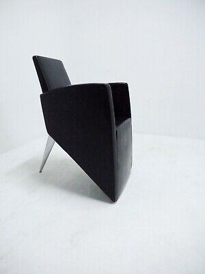 Philippe Starck J. (Série Lang) Leather Lounge Chair 80s Postmodern Driade Aleph