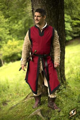 Basic Sleeveless Tabard in Red for Costume, Stage, Re-enactment & LARP