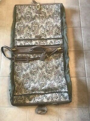 f99b5fd84ce1 VINTAGE FRENCH LUGGAGE CO TAPESTRY Garment Bag 48