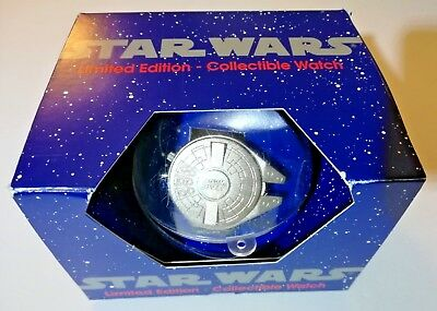 Star Wars Millennium Falcon Watch Limited Edition Collectible w/ Box Vintage 93'