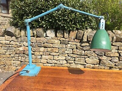 Vintage Rare Industrial Dugdills Patent Anglepoise Machinists Desk / Floor Lamp