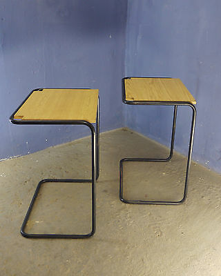 1 of 10 VINTAGE SCHOOL DESK WRITING TABLE ETAGERE CONSOLE BAUHAUS STYLE