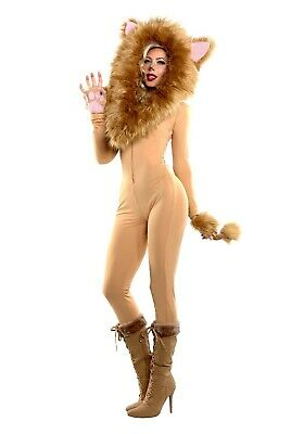 596af9a20 WOMEN TEEN LION Halloween Costume Sexy Role Play Dress Animal ...