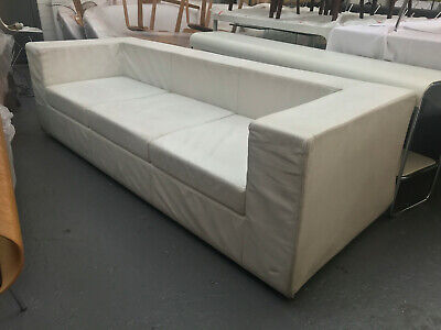 Throw Away sofa by Willie Landels for Zanotta fabulous white leather Unused 1999