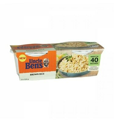 Uncle Bens Brown Rice Cups 2pk 125g