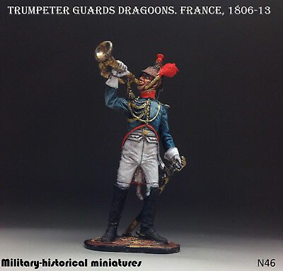 Nap-01 The staff-trumpeter of the Moscow Dragoon Regiment Tin Toy Soldiers Metal Sculpture Miniature Figure Collection 54mm scale 1//32