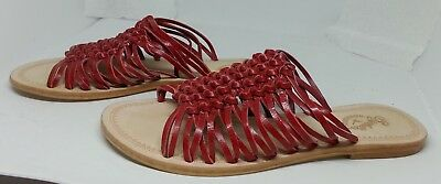 8c8f2fc03 Seychelles Weekenders~~Womens~~All Leather~~Red Dual Knotted Sandals~
