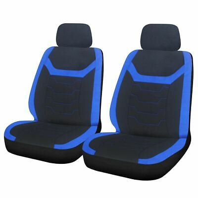 Blue Black Look Pair Front Car Seat Covers for Land Rover Defender 90
