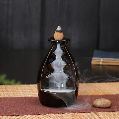 159F Beautiful Backflow Waterfall Sandalwood Incense Incense Censer Holder