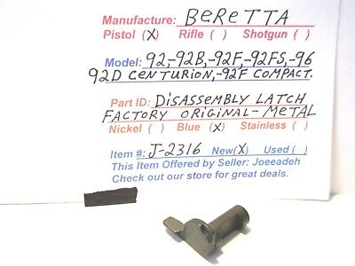 DISASSEMBLY LATCH FOR Beretta 92 M9 22 LR Pistol - $9 99