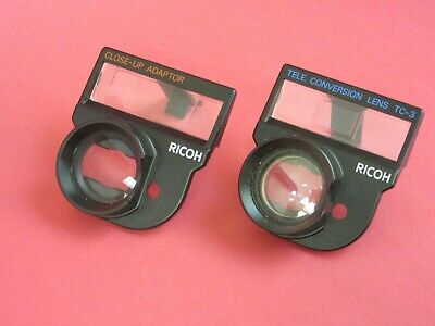 Ricoh Close Up Adaptor FF-3 and Tele Conversion Lens TC-3 with case