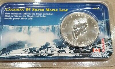 2000 Canadian $5 Silver Maple Leaf    Fireworks Privy Mark  Uncirculated