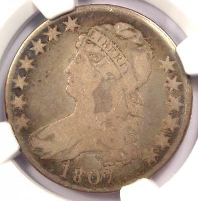 1807 Capped Bust Half Dollar 50C Coin - Certified NGC G6 (Nice Good) - Rare Date