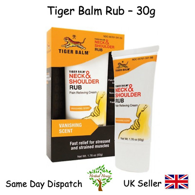 Tiger Balm Neck and Shoulder Rub - 30 g Non Greasy Pain Relief Soothes Muscle