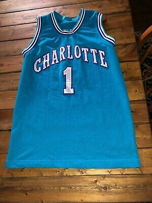 121816092ab RARE Vintage 90's Mugsy Bogues NBA Charlotte Hornets Jersey Adult Small  Youth XL
