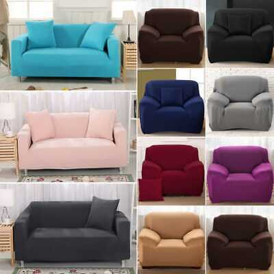 Easy fit Stretch Sofa Slipcover Stretch Protector Soft Couch Cover 1-4 Seaters