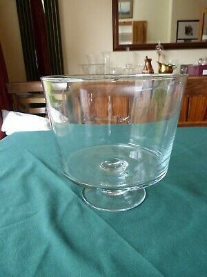 Glass Footed Trifle Bowl 20 cm Salad Fruit Serving Dish Round Large Party Sweets