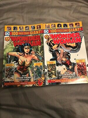 DC Comics WONDER WOMAN #1 AND #2 WALMART EXCLUSIVE 100 Page GIANT LOT