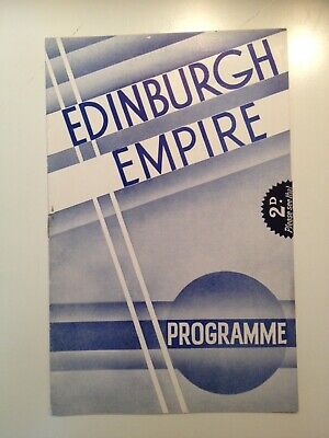 Edinburgh Empire theatre programme 1936. The Cast can be seen in photos