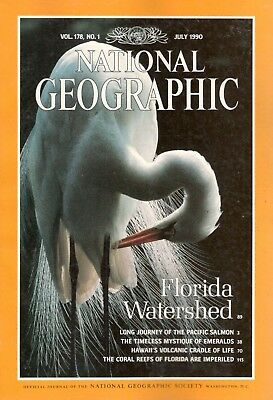 National Geographic- July 1990- Vol 178, No 1- Florida Watershed