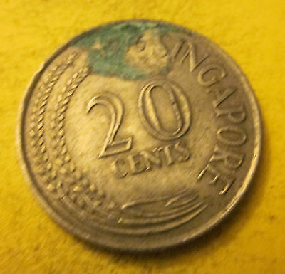 Singapore 20 cent coin 1976