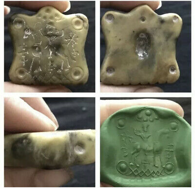 Wonderful Old Jade Stone Roman Intaglio Very Beautiful Pendent