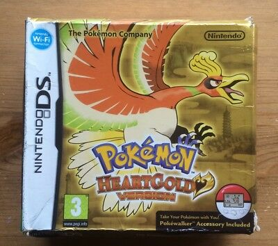 BIG CARDBOARD BOX ONLY For Pokemon Heart Gold Nintendo Ds Game NO GAME INCLUDED