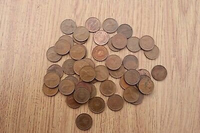 St Edward's Crown Half Penny RARE 1/2p Pence Coins MIXED LOT 48 IN TOTAL