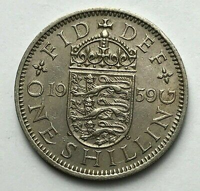 Dated : 1959 - One Shilling - Coin - Queen Elizabeth II - Great Britain