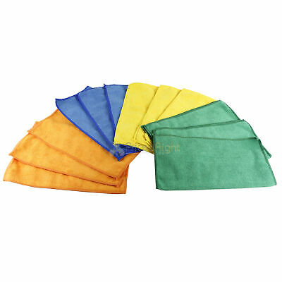 """12 Pack Microfiber Cleaning Cloths 12"""" x 12"""" Nonabrasive Cloth Grip Tools 54788"""