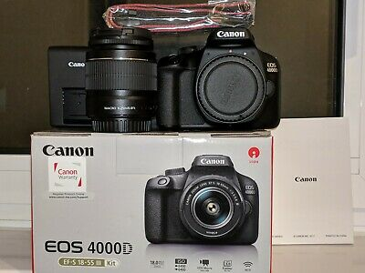 CANON EOS 4000D DSLR Camera with EF-S 18-55 mm