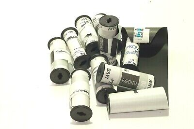 10pcs 120 220 Assorted Empty Roll Film Spool With Backing Paper For Hand Re-Roll