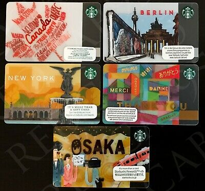 City / Country Starbucks Card OSAKA, BERLIN & More  Lot of 5 - 2014 2015 2016
