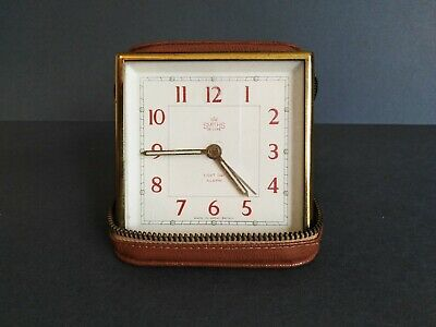 Smiths 8 day travel alarm clock. Vintage. Collectable. Clock works.History.