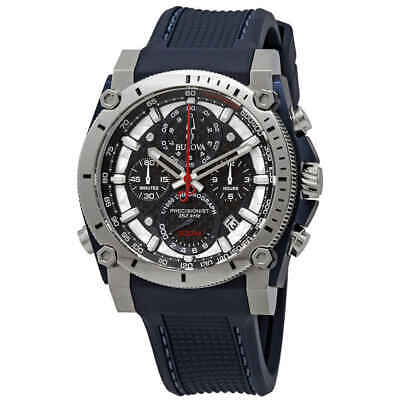 Bulova Precisionist Black Carbon Dial Men's Chronograph Watch 98B315