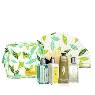 L'occitane Refresh Go Verveine Kit Verbena FAN Ice Shower Gel Body Lotion EDT
