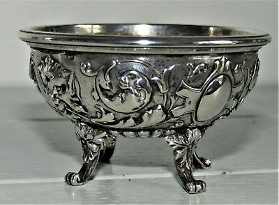 Rare Antique Tiffany Paris Silver Footed Ornate Open trinket Salt Bowl Plated