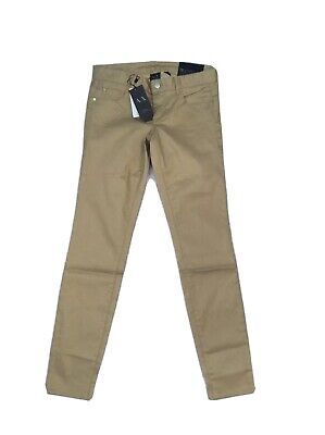 Ladies Armani Exchange AX Gold Brown Jeggings Size UK 4 Trousers girl 16 years