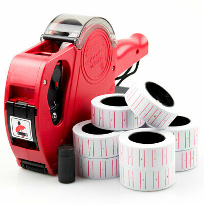 Price Gun Pricing Tag Tagging +11 Label Rolls Sticker Spare Ink for Retail Shop