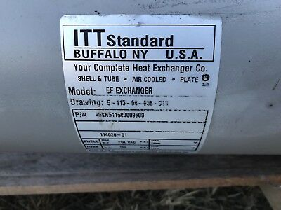 Itt Standard Ef Heat Exchanger