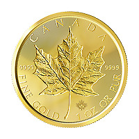 1 oz 2019 Canadian Maple Leaf Double Incuse Gold Coin