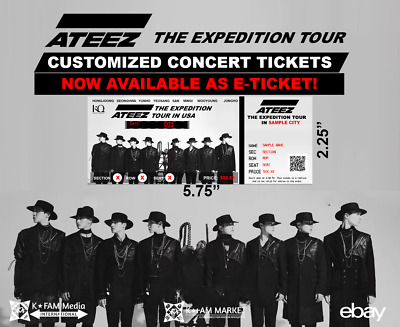 ATEEZ Personalized Tickets (ATEEZ the EXPEDITION TOUR)