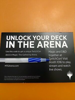 Magic The Gathering MTG Arena TwitchCon 2018 Exclusive Deck *CODE ONLY*