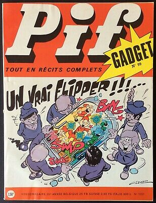 Pif Gadget No. 99 (Vaillant No. 1337) Janvier 1971 Very Good Condition without